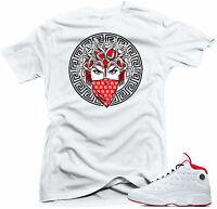 Shirt to match Air Jordan History of Flight Retro 13. Medusa 13  White Shirt