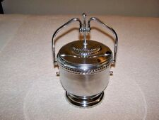 New listing Estate: Rare, Antique Stainless Steel Ice Bucket W/Glass Liner - Lifting Lid