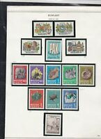 hungary issues of 1969 fossils etc stamps page ref 18296