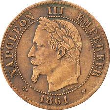 Monnaies, Second Empire, 2 Centimes Napoléon III tête laurée, 1861 BB #34760