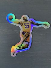 Lebron James Vinyl Sticker High Flyers HOLOGRAPHIC Very High Quality NBA LAKERS