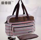 New Stripe 3PCS Baby Changing Diaper Nappy Mummy Bag Shoulder Bag Handbag Large