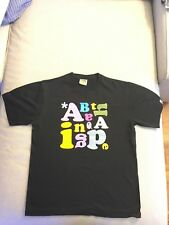 A Bathing Ape BAPE ABC Tee T-shirt Black Large 2007 Made in Japan **NEW**