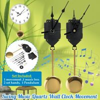 Quartz Wall Clock Pendulum Movement Mechanism DIY Kit Chime Trigger Home Decor