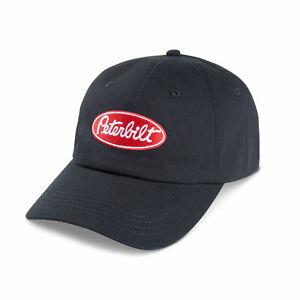 PETERBILT *BLACK TWILL* TRADEMARK LOGO HAT CAP * NEW!* PB37