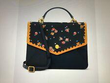 Cath Kidston Vintage Style Navy Wimborne Ditsy Print Leather Bag New