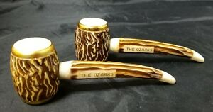Salt And Pepper Shakers: Simulated Stag Horn In Package The Ozarks