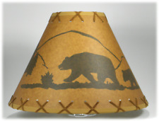 "14"" BEAR RUSTIC LAMPSHADE with Suede Lacing"