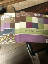 Lot Of 4 12x12 Pads Of Scrapbooking Paper Brand DCWV Latte Theme