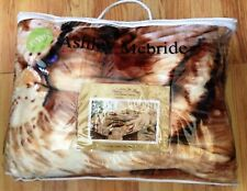 Ashley McBride Safari Blanket Tiger Print Pictorial Twin 66 x 85 100% Polyester