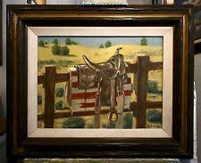 ANTIQUE WESTERN SADDLE, original oil painting  by Richard R. Nervig
