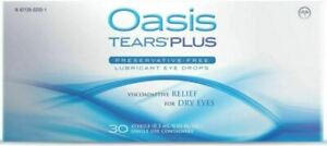 OASIS TEARS PLUS 30 VIALS-NEW EXPIRES 2022