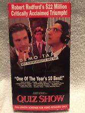 QUIZ SHOW ** John Turturro (Full Length Screener) -- 100's of VHS in Store!!!