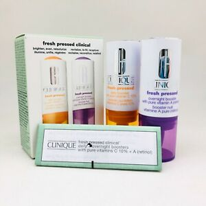 Clinique Fresh Pressed Vit. Enriched Clinical Duo Daily + Overnight Booster, NIB