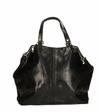 borsa bag a mano tracolla da donna woman pelle made in italy nero nera 80055