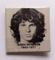 "JIM MORRISON 1943-1971 THE DOORS ORIGINAL VTG  2"" PROMO BADGE/PIN"