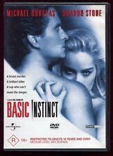 Basic Instinct  R4 DVD 90s Mystery Thriller Sharon Stone