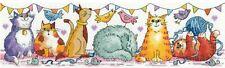 Heritage Crafts Cross Stitch Kit - Cat Show (Aida)