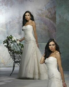 Forever Yours 44101114 Bridal gown Wedding Dress Ivory 2 Brand New with tags