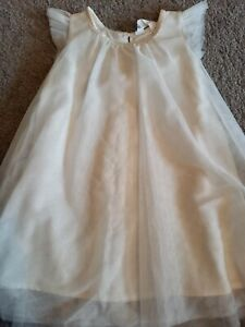 GIRLS H&M SIZE 2-3 YEARS SPARKLY WHITE DETAIL PARTY DRESS