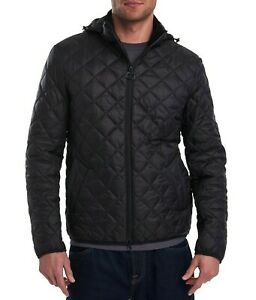 Barbour Tropo Diamond Quilted Jacket Mens Large Black $280