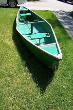 15 Ft Coleman canoe green composite No leaks LOCAL PICKUP ONLY MICHIGAN