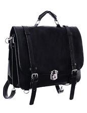 Sac noir messager steampunk gothique bandoulière ou sac à dos Restyle