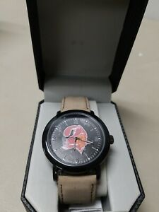 Tampa Bay Buccaneers Game Time Mens Quartz Metal and Leather Watch NEW FREE SHIP