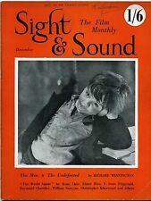 SS50-19-8 SIGHT AND SOUND 1950 Orson Welles HUMPHREY JENNINGS UK MAGAZINE