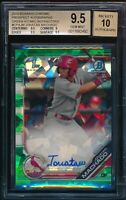BGS 9.5/10 JONATAN MACHADO 2019 Bowman Chrome GREEN ATOMIC REFRACTOR RC GEM MINT