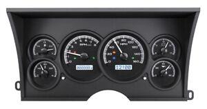 1988-94 Chevy GMC C/K 1500 2500 Dakota Digital Black Alloy / White Gauge Kit