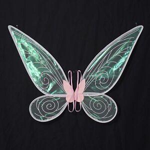 Kids Girls Sparkling Sheer Angel Wings w/Elastic Shoulder Straps Fairy Cosplay