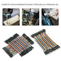 40pcs Dupont Jump Wire M-F M-M F-F Jumper Breadboard Lead For Ard Cable Z6L6