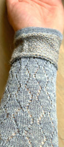 Leicht gestrickte Pulswärmer aus Alpaka Wolle und Leinen RESTPOSTEN