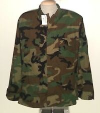 U.S. Army Military Woodland Camo BDU Combat Coat Men's XL R Regular NWT NEW