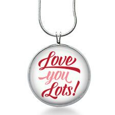 Love you LOTS necklace -couples jewelry, inspirational, grandma,daughter, mother