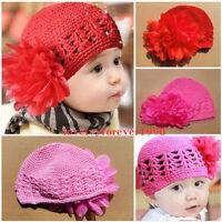 Baby Girl Toddler Cotton Flower Crochet Beanie Hat Headwear for Newborn to 3yrs