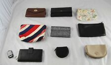 Lot of 9 Vintage Coin Purse Checkbook Ladies Wallets Cloth Leather Vinyl  p2p15