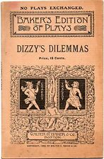 1904 Dizzy's Dilemma a Farce in One by Charles I. Brown  Act Baker's Edition