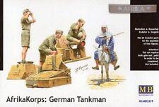 AFRIKA KORPS TANK CREW W/ARAB ON DONKEY  1/35 MASTERBOX
