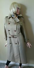 Aquascutum 5 London Custom Quality Trench Topcoat Womens 6-8 Medium 10-12 Uk