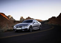 BMW 4 SERIES COUPE CONCEPT NEW A2 CANVAS GICLEE ART PRINT POSTER