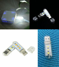 LUCE LED USB MINI LAMPADA LETTURA SCRIVANIA NOTTURNA NOTEBOOCK PC PORTATILE