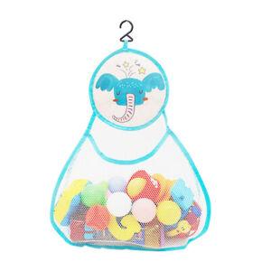 Large Kids Baby Bath Toy Organiser Mesh Net Storage Bag w/ Hanging Hook Bathroom