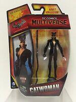 "DC COMICS MULTIVERSE BATMAN: ARKHAM Catwoman 4"" FIGURE MOC"