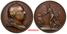 FRANCE BRONZE 1814 MEDAL 1814 Louis XVIII Peace of the World  40mm 36,35 g.