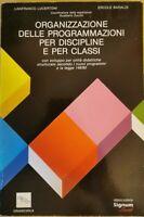 Organizzazione delle programmazioni per discipline e per classi - ER