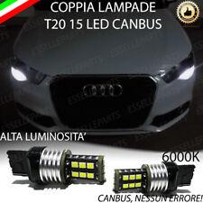 COPPIA LUCI DIURNE DRL 15 LED T20 CANBUS AUDI A1 6000K 100% NO AVARIA LUCI
