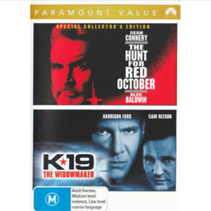 K19 The Widowmaker DVD + Hunt for Red October (2 Movies) Sean Connery Movie