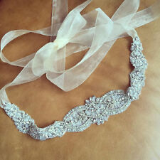 "Wedding Dress Sash Belt -  Crystal Pearl Bridal Sash Belt = 16 1/2 "" long"